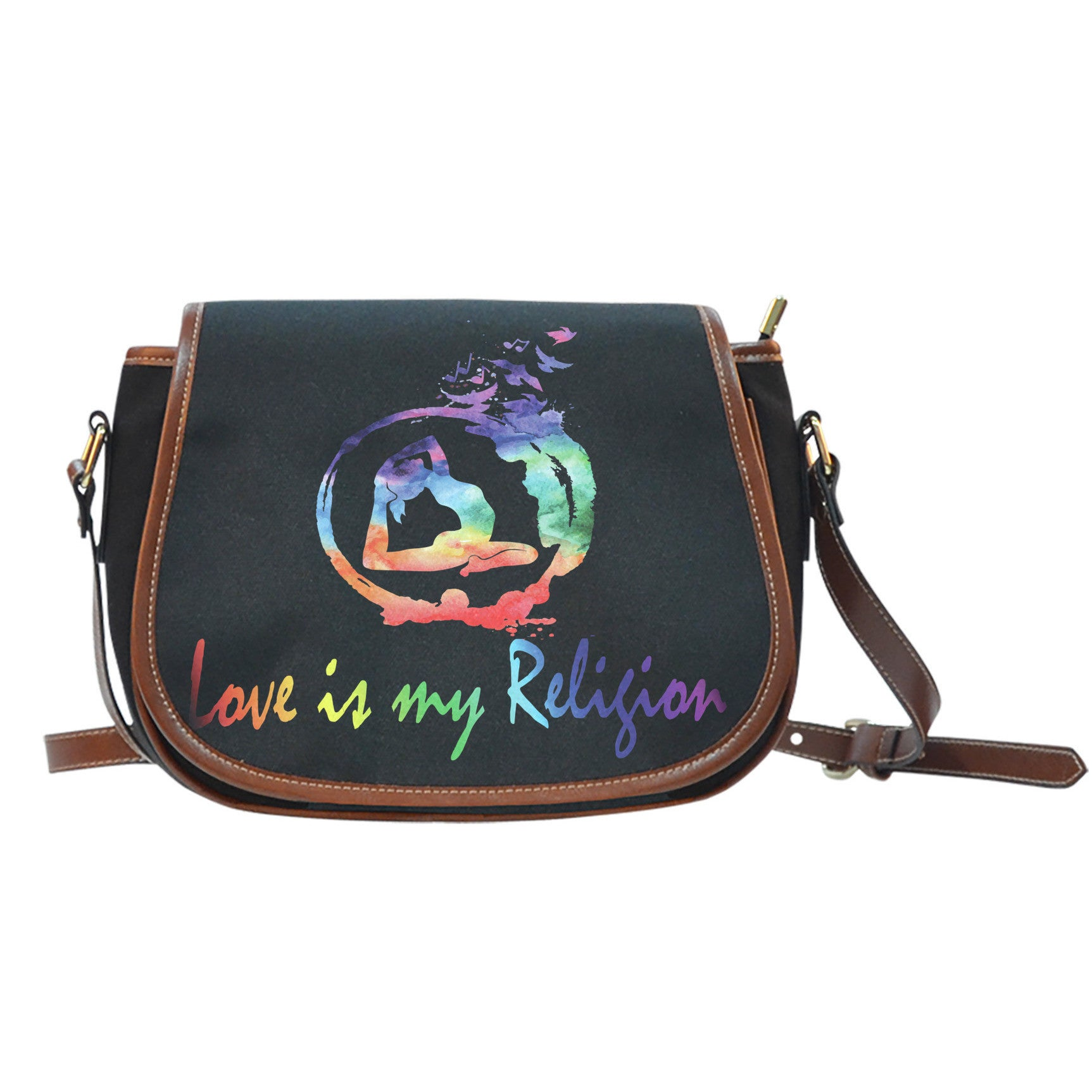 Black Saddle Bag Love Is My Religion - Lyghtt