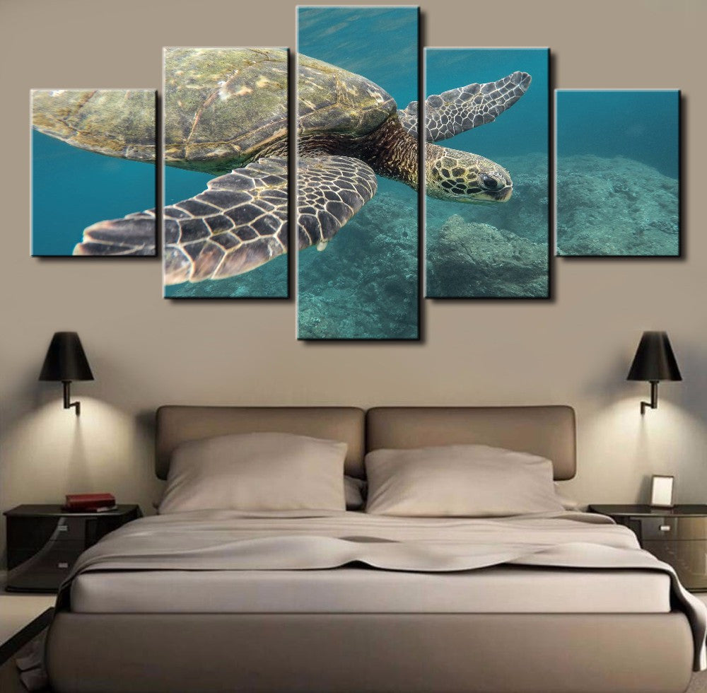 5 panel tortoise modern home wall decoration painting canvas wall pict 5 panel tortoise modern home wall decoration painting canvas wall picture for home decor amipublicfo Images