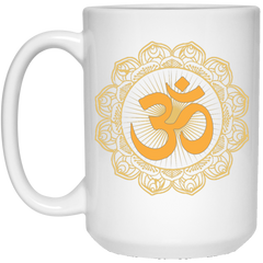 Golden Om Lotus Mugs & Drinkware
