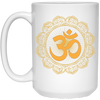 Image of Golden Om Lotus Mugs & Drinkware - Lyghtt