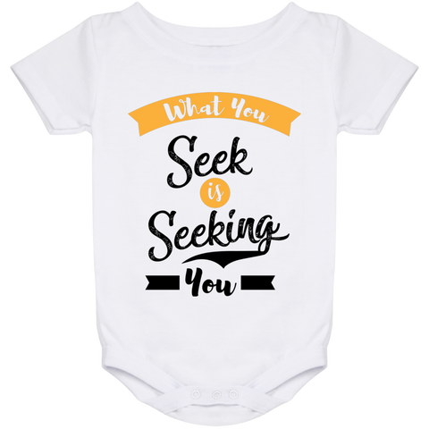 What You Seek Is Seeking You  Babies Bib & Onesie - Lyghtt