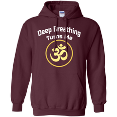 Deep Breathing Turns Me Om Gold Apparel MEN