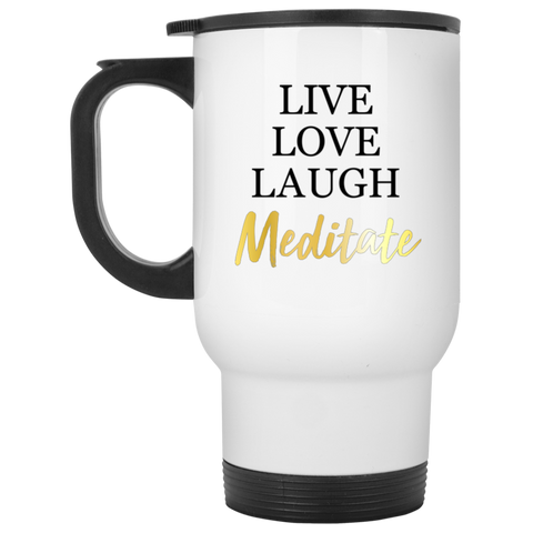 Live Love Laugh Meditate Mugs & Drinkware - Lyghtt