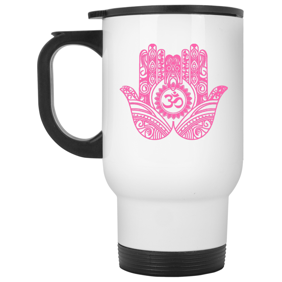 Double Hamsa Hand of Fatima Travel Coffee Mug   Drinkware