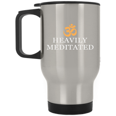 Heavily Meditated Mugs & Drinkware Black