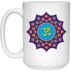 Om Lotus Flower Mugs & Drinkware