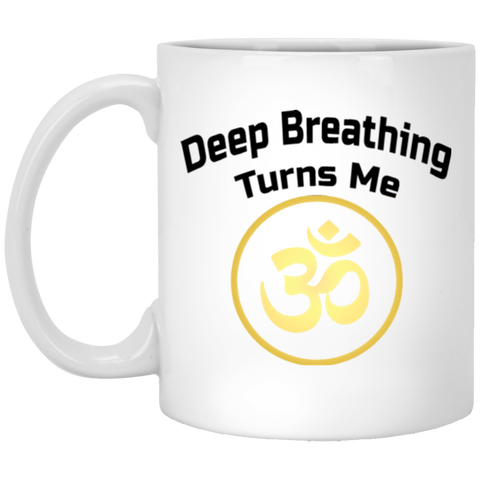Deep Breathing Turns Me Om Drinkware & Mugs - Lyghtt