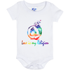 Image of Love Is My Religion Girl Baby Bib & Onesie - Lyghtt