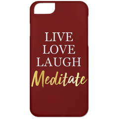 Live Love Laugh Meditate Phone & Ipad Cases