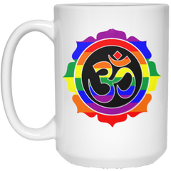 Rainbow Om Mugs & Drinkware