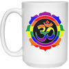 Image of Rainbow Om Mugs & Drinkware - Lyghtt