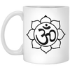 Image of Om Sacred Flower Mugs & Drinkware - Lyghtt