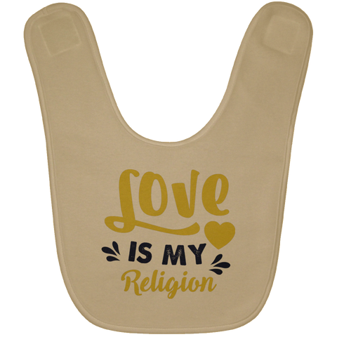 Love Is My Religion Gold & Gray Babies Bib & Onesie - Lyghtt
