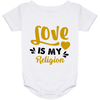 Image of Love Is My Religion Gold & Gray Babies Bib & Onesie - Lyghtt