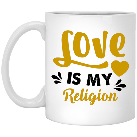 Love Is My Religion Gold Drinkware - Lyghtt