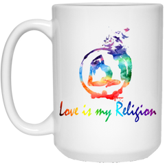 Love is My Religion Yoga Drinkware