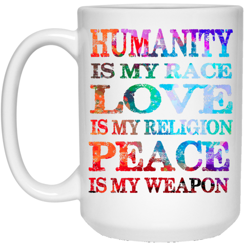 Humanity Is My Race Drinkware - Lyghtt