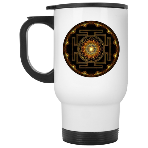 Sri Yantra Ceramic Coffee Mug & Drinkware - Lyghtt