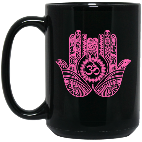 Double Hamsa Hand of Fatima Travel Coffee Mug & Drinkware - Lyghtt