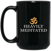 Image of Heavily Meditated Mugs & Drinkware Black - Lyghtt