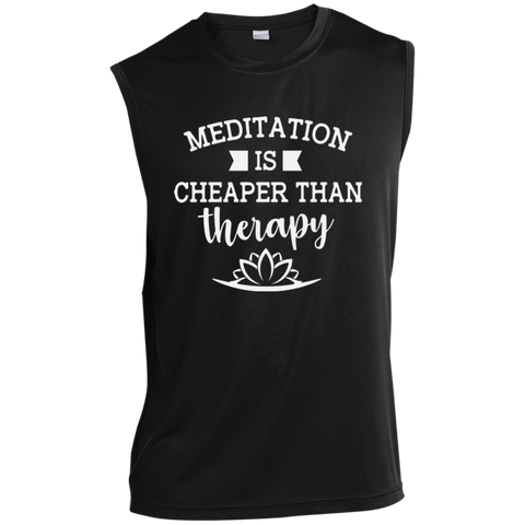 Meditation Is Cheaper Than Therapy Men Apparel - Lyghtt