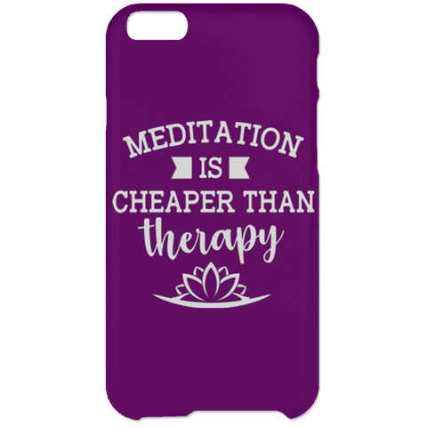 Meditation Is Cheaper Than Therapy Phone & Ipad Cases - Lyghtt