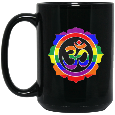 Rainbow Om Mugs & Drinkware - Lyghtt