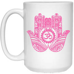 Double Hamsa Hand of Fatima Travel Coffee Mug & Drinkware
