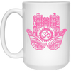 Image of Double Hamsa Hand of Fatima Travel Coffee Mug & Drinkware - Lyghtt