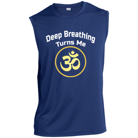 Deep Breathing Turns Me Om Gold Apparel MEN - Lyghtt