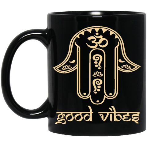 Golden Hamsa Hand of Fatima Mug & Drinkware - Lyghtt