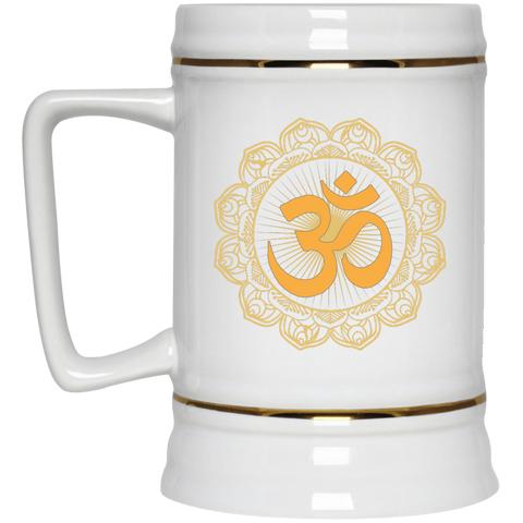 Golden Om Lotus Mugs & Drinkware - Lyghtt