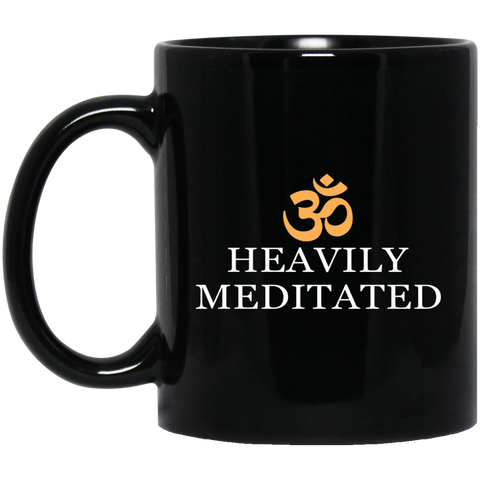 Heavily Meditated Mugs & Drinkware Black - Lyghtt