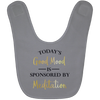 Image of Today's Good Mood Is Sponsored By Meditation Baby Bib & Onesie - Lyghtt