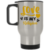 Image of Love Is My Religion Gold Drinkware - Lyghtt