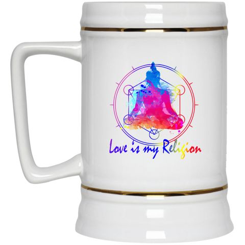 Love is my Religion Buddha Drinkware & Mugs - Lyghtt