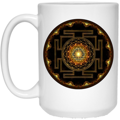 Sri Yantra Ceramic Coffee Mug & Drinkware