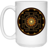 Image of Sri Yantra Flower of Life Ceramic Coffee Mug & Drinkware - Lyghtt