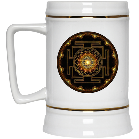 Sri Yantra Flower of Life Ceramic Coffee Mug & Drinkware - Lyghtt