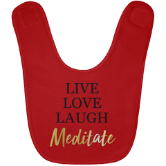 Live Love Laugh & Meditate Babies Bib & Onesie