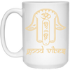Image of Golden Hamsa Hand of Fatima Mug & Drinkware - Lyghtt