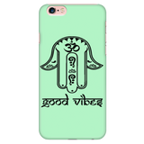 GREEN Good Vibes Hamsa Phone Case for Iphone 5, 6, 6s & Galaxy 7 - Lyghtt