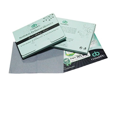 BAMBOO Charcoal Oil Blotting Sheets, NATURAL Premium & High Quality Absorbing Tissues - Lyghtt