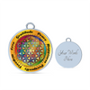 Image of Affirmation Flower of Life Bangle Bracelet with Circle Charm - Lyghtt