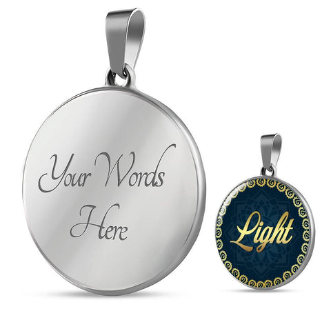 Light Circle Style Charm Necklace - Lyghtt