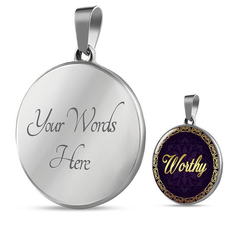 Worthy Circle Charm Necklace