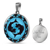 Image of Pisces Blue Zodiac Sign Pendant Necklace - Lyghtt