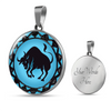 Image of Taurus Blue Zodiac Sign Pendant Necklace - Lyghtt