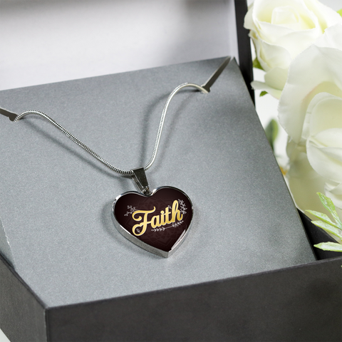 Faith Heart Style Charm Necklace - Lyghtt
