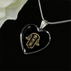 Image of Golden Hamsa Hand Heart Pendant Necklace - Lyghtt